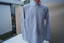 Ralph Lauren classic fit Herren Hemd langarm Gr.17 36 37 gestreift blau weiß #86