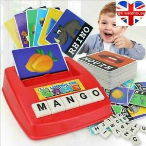 English Spelling Game Educational Toy (52 Alphabets & 60 Word Cards)