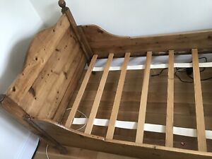 Beautiful Antique Vintage Old Pine Single Bed