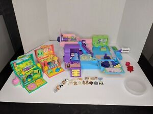 Vintage Galoob POUND PUPPIES MAGIC MANSION PLAYLAND Playset 1999 with 20 Pets