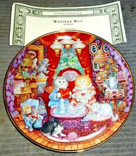 """Franklin Mint by Bill Bell """"Whisker Wuv"""" Collectible Cat Plate"""