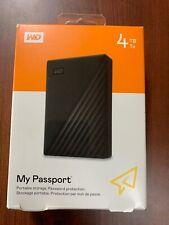 WD Passport - 4TB Portable Hard Drive WDBPKJ0040BBK-WESN - Black