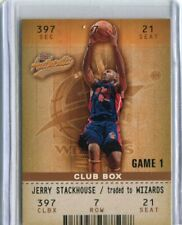 2002-03 Fleer Authentix - JERRY STACKHOUSE - Club Box - PISTONS #d 16/100