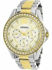Fossil Women's Riley ES3204 Silver Stainless-Steel Quartz Fashion Watch