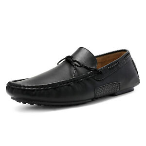 Mens Penny Loafers Moccasin Slip On Flats Driving Casual Boat Shoes Size 6.5-15