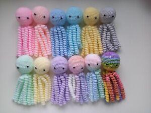 Handmade Crochet Amigurumi Octopus Fiddle Toy Sensory Comforter Premature Babies