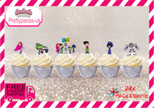 Teen Titan 24 Stand-Up Pre-Cut Wafer paper Cupcake toppers