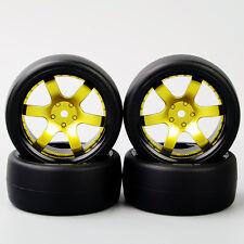 4X RC Flat Drift Tires&Wheel Rim 12mm Hex For HPI HSP 1:10 On-Road Racing Car