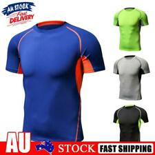 Men Sports Function Exercise Fitness Pure Color Clothing T-shirt
