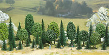 Busch N/HO/O Scale Deciduous/Pine Tree Assortment Package of 35 Various Sizes