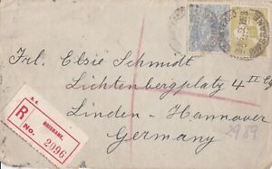 APH1774) Australia 1923 small registered  cover to Germany. Bears 4d