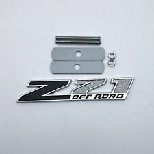 New Metal Z71 Off Road Red Black Front Grille Emblem Badge For Chevy GMC Trucks