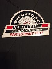 Firestone E.T Racing Series 1987 Vintage Sticker Decal NHRA