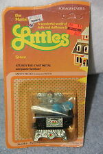 1980 Mattel THE LITTLES Die Cast Metal STOVE  New Never Removed From Box