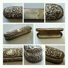 OUTRAGEOUS ANTIQUE SOLID SILVER SNUFF BOX, SUPERB ANTIQUE SILVER DRESSER BOX