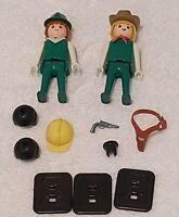 Vintage PlayPeople 2 x Figures, Accessories and 3 x Leaflets Playmobile Geobra