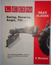 Leon 330 350 370 390 395 3100 Rear Blade for Tractors Sales Brochure &Price List