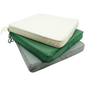 Seat Pad TIES 40x40cm strong Waterproof Cushion Rattan Seat for Indoor & Outdoor