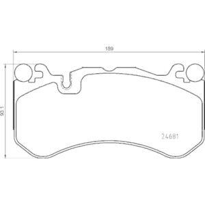 1 Kit de plaquettes de frein, frein à disque BREMBO P 50 142 convient à
