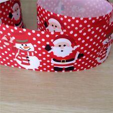 "Christmas Printed Grosgrain Ribbon 12mm 1//2/"" wide 1 2 5 10m Santa /& Rudolph"
