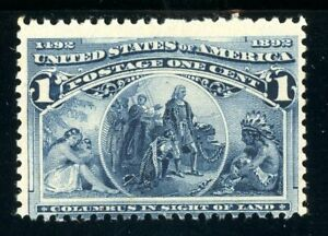 USAstamps Unused FVF US 1893 Columbian Expo Columbus in Sight Scott 230 OG MNH