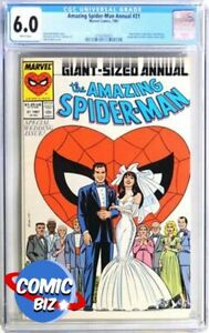 AMAZING SPIDER-MAN ANNUAL #21 (1987) 1ST PRINTING MARVEL MODERN AGE CGC FN 6.0