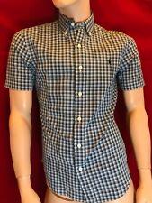 BNWT RALPH LAUREN Men's Indigo Oxford Blue Check Short Sleeve Shirt Size S Gift