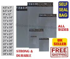 More details for grey mailing postage poly postal bags mailer post parcel packing  self seal bags