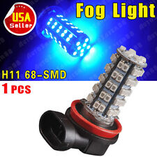 1 X H11 68-SMD Car Ultra Blue LED Fog Driving DRL Daytime Running Light 12V US