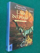 WEIS HICKMAN - L' ALA DEL DRAGO, 1° Ed Interno Giallo (1990) Ciclo Death Gate 1
