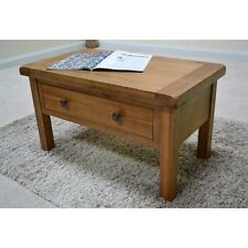 Oak Coffee Table with storage Drawers / Living Room / Solid hardwood Beaufort