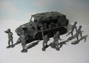 Durham Industries 6 piece  Grey Ghost Half Track + Marx German Soldiers  Lot