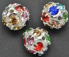 Silver Plated Crystal Jewellery Making Beads