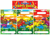 12 Dinosaur Empty Party Bags - Toy Loot Gift Wedding/Kids Plastic