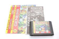 Genesis (Megadrive) Game Sonic The Hedgehog 3 NTSC USA Cardboard (Majesco?)