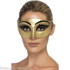 Women's Evil Cleopatra Gold Eye Mask Masquerade Fancy Dress Party Ball Hen Fun