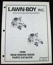 Lawn Boy 1990 Rear Engine Rider Lawn Yard Tractor Parts Catalog 52144 52145