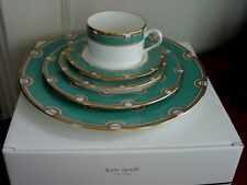 Kate Spade Lenox CORONA GROVE AQUA 5 Piece (Pc) Place Setting - NEW / BOX!