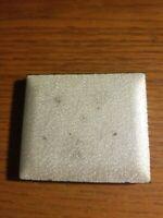 Vintage Guilloche Powder Compact White  Enamel