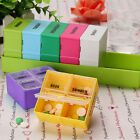 Weekly 7 Day Colorful Medicine Boxes Holder Storage Organizer Container Case