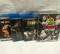 Lot of 4 wrestling DVD's. 3 blu-ray 1 cage match 7 Discs