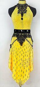 L1997 women Ballroom Ramba Latin/Rhythm Samba uk 10 US 8 Dance Dress