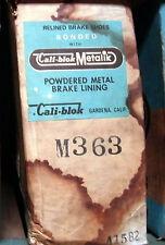 NOS Cali-Blok Metallic Brake Shoes M 363 For Checker Chevelle S/W Toronado