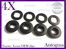 NEW GENUINE OEM TOYOTA LEXUS OVAL BLACK CAR FLOOR MAT CLIPS CARPET CLIPS 4PCS