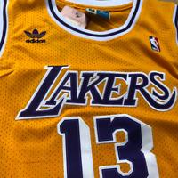 Adidas Los Angeles Lakers #13 Wilt Chamberlain Retro Basketball Jersey Yellow