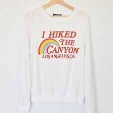 New WILDFOX I HIKED THE CANYON LOS ANGELES CA BAGGY BEACH JUMPER SWEATSHIRT M MD