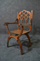 Gothic dantesca throne chair for Dolls 1/6 scale for Barbie, FR OOAK