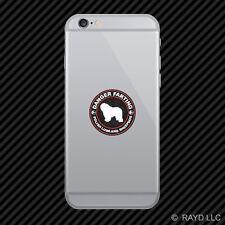 Danger Farting Polish Lowland Sheepdog Cell Phone Sticker Mobile Die Cut