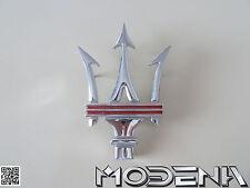 Maserati Emblem Dreizack Tridente Kühler Grill 4200 Coupe Spyder QP rot red
