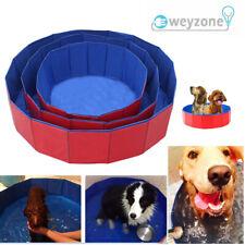 More details for pet portable dog bath tub foldable pvc outdoor dog swimming pool paddling uk